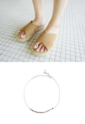 Silver lease -anklets