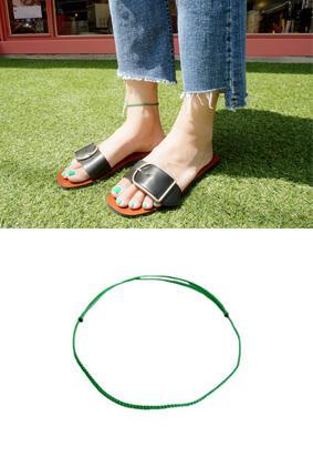 Green cooler -anklets