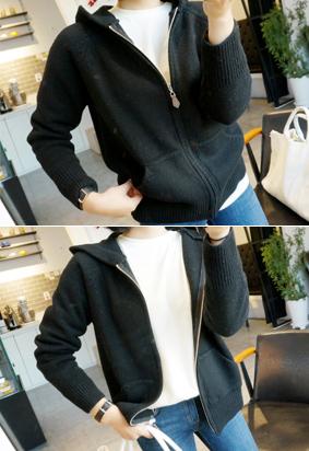 Knitted Hood -zipup