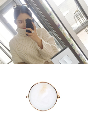 Goldie marble -Ring