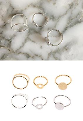 New Circle -Ring (3set)