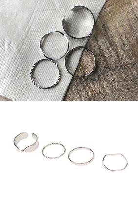 Silverlight -Ring (4set)