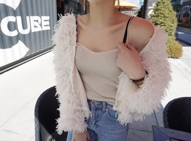 -Sleeveless Shirts slim straps