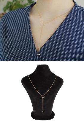 Gold Long Pearl -N